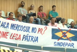 Despachantes do PR fazem protesto contra a Placa Mercosul